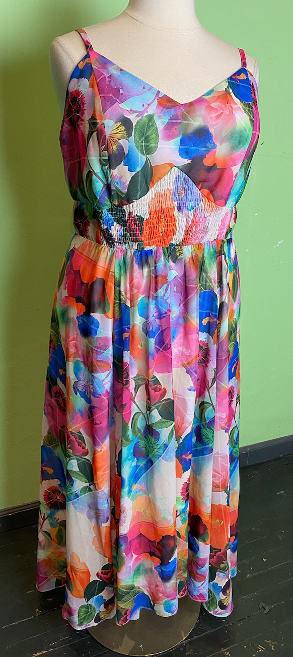 City Chic Bright Floral Maxi