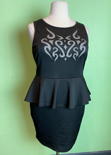 Load image into Gallery viewer, Forever 21 Black Dress with Peplum