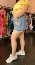 Load image into Gallery viewer, Shein Denim Shorts with Floral Embroidery