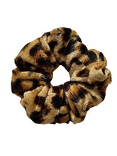 Load image into Gallery viewer, Velvet Leopard  Scrunchie