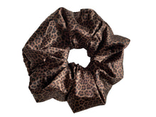 Load image into Gallery viewer, Jumbo Satin Leopard Scrunchie