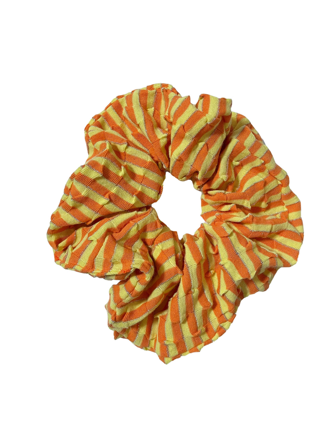 Jumbo Retro Yellow & Orange Scrunchie