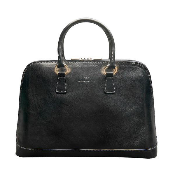 Fiona Black Satchel Bag