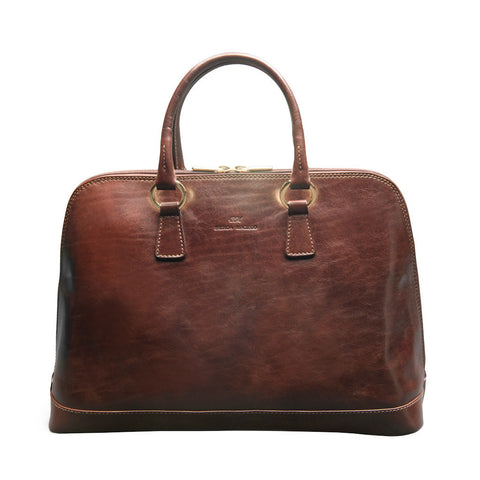 Fiona Dark Brown Satchel Bag