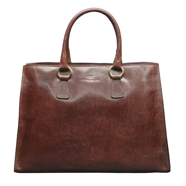 Jane Dark Brown Tote