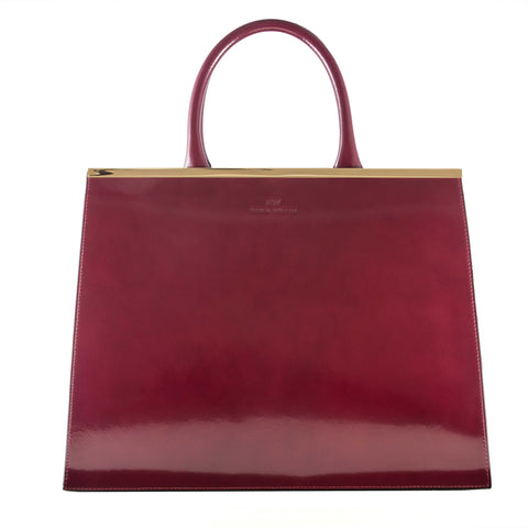 Grace Burgundy Tote