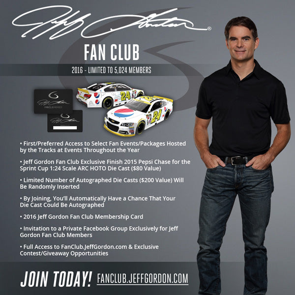 2016 Jeff Gordon Fan Club Banner - 600x600