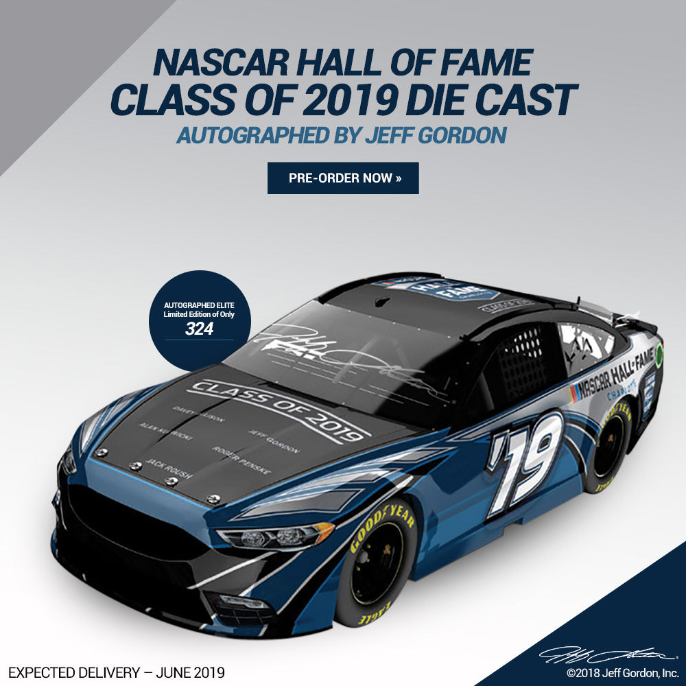 Autographed Jeff Gordon NASCAR Hall Of Fame Class Of 2019 ELITE 1:24 Scale Die Cast