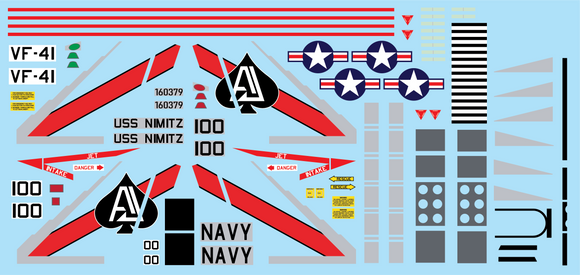 F-14A Tomcat Stickers