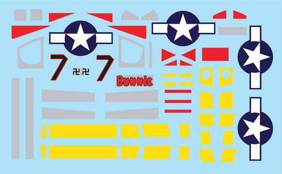 P-51D Mustang Tuskegee Edition Stickers