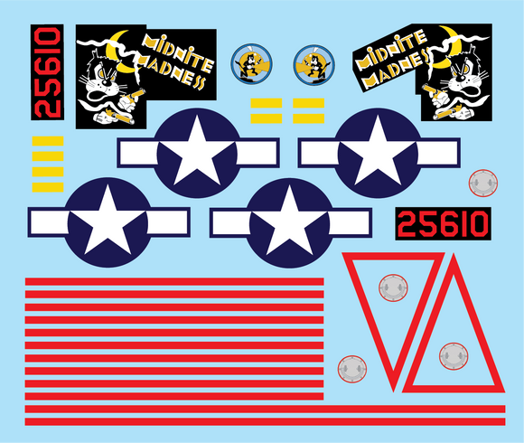 P-61B Black Widow Stickers