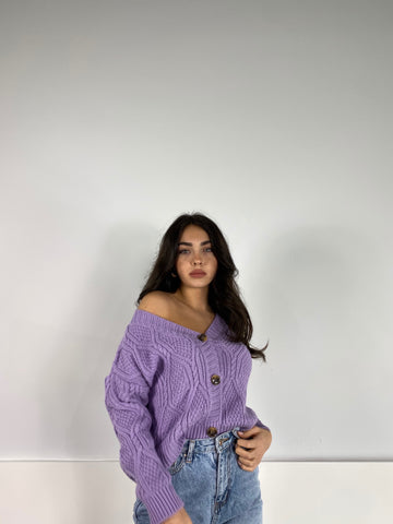 Cardigan Meredit Viola