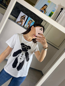 T Shirt Bear White