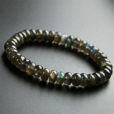 perline labradorite genuino braccialetto