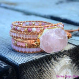 "Wrap Bracelet ""Magic of Love"" Quarzo Rosa"