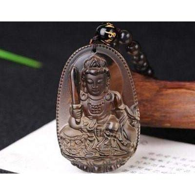 CHANCE - Pendenfif Buddha Obsidian