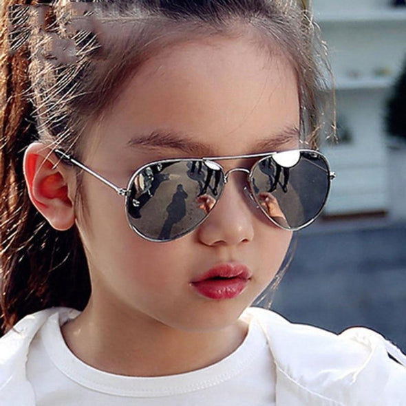 Classic Sunglasses Girls Colorful Mirror Children Glasses UV400 2021