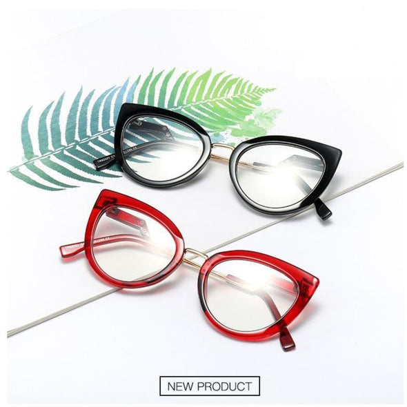 Small square flat glasses frame