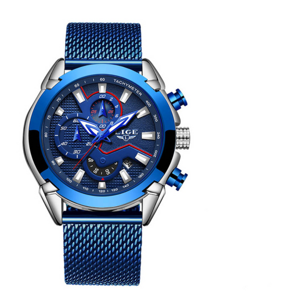 LG9973 - Men's Stainless Steel Waterproof Military Quartz Watch
