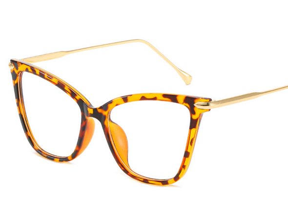 Vintage Transparent Cat Eye Glasses
