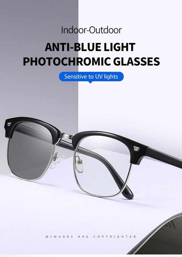 Lens color changes automaticlly and insantly blue light glasses Bl5009