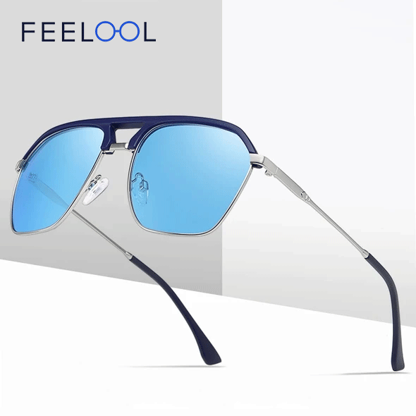 Rectangle Shades For Men Fashion Polarized Sunglasses