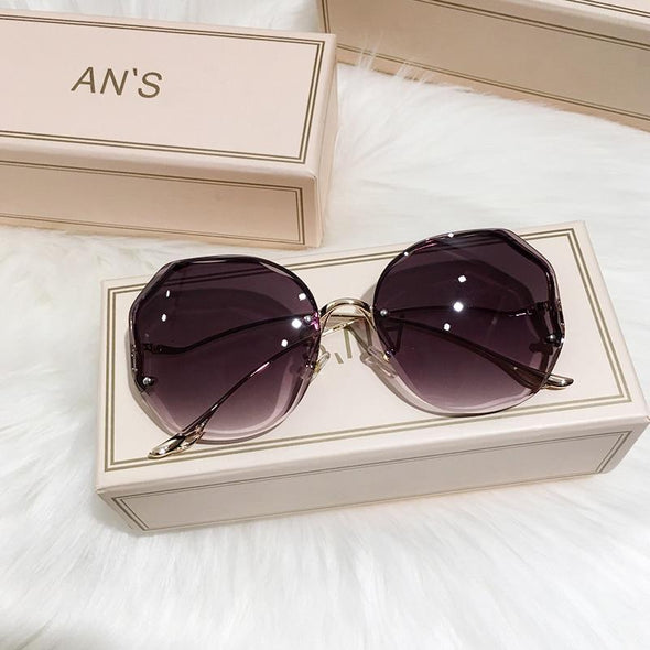 Women Sunglasses Rimless UV400 Brand Designer Gradient