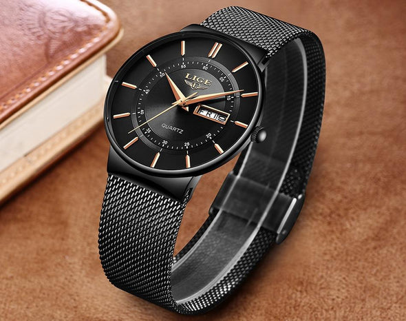 LG9949 - Men's Stainless Steel Waterproof Quartz Watch