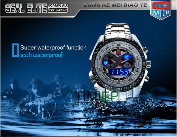 TVG - Digital Display Men's Waterproof Quartz Watch