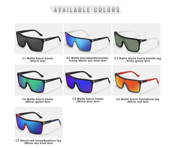 Polarized Elastic Paint Surface Sun Glasses