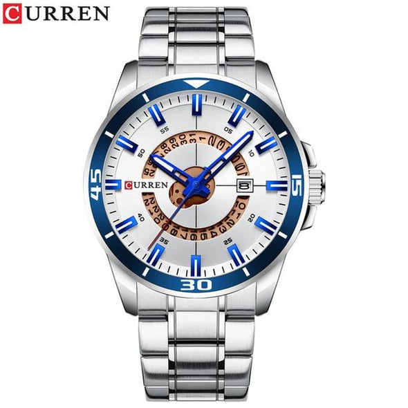 Curren - Dial Stainless Steel Water Resistant Quartz Watch