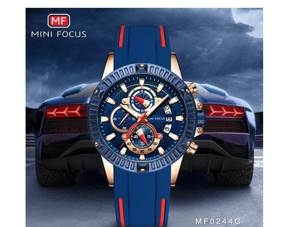 MINI FOCUS - Silicone Strap Waterproof Quartz Watch