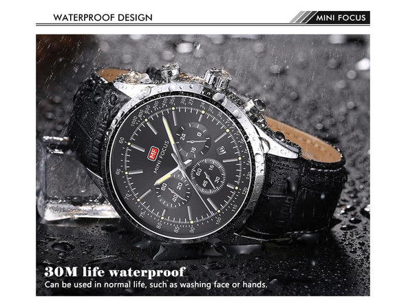 MINI FOCUS - Multifunction Sport Quartz Waterproof Watch