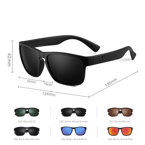 Square Driving Polarized Sunglasses For Men
