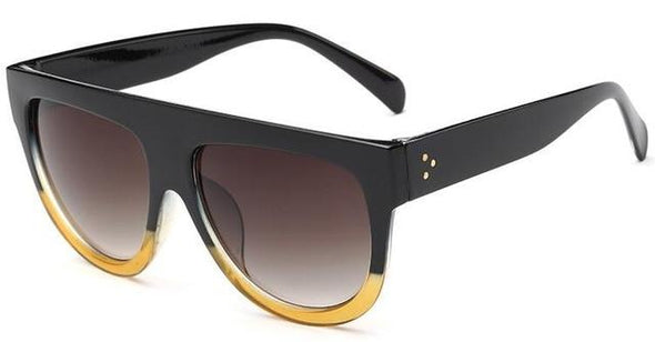 Sexy Black Sunglasses Vintage Retro Flat Top Sun Glasses HOT