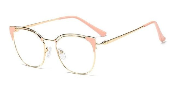 Cat Ear Simple Metal Women Optical Fashion Computer Glasses Frames