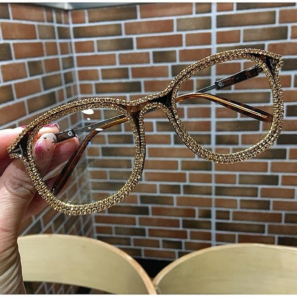 Vintage style clear lens glasses