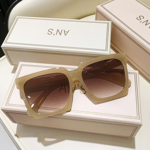 New Women Sunglasses Plus UV400 Brand Designer High Quality Gradient Sun Glasses Female oculos With Box