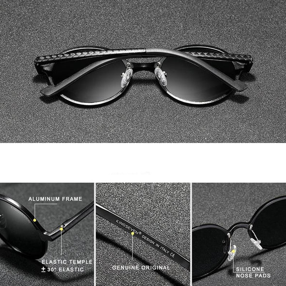 Men's Aluminum Steampunk Round Sunglasses
