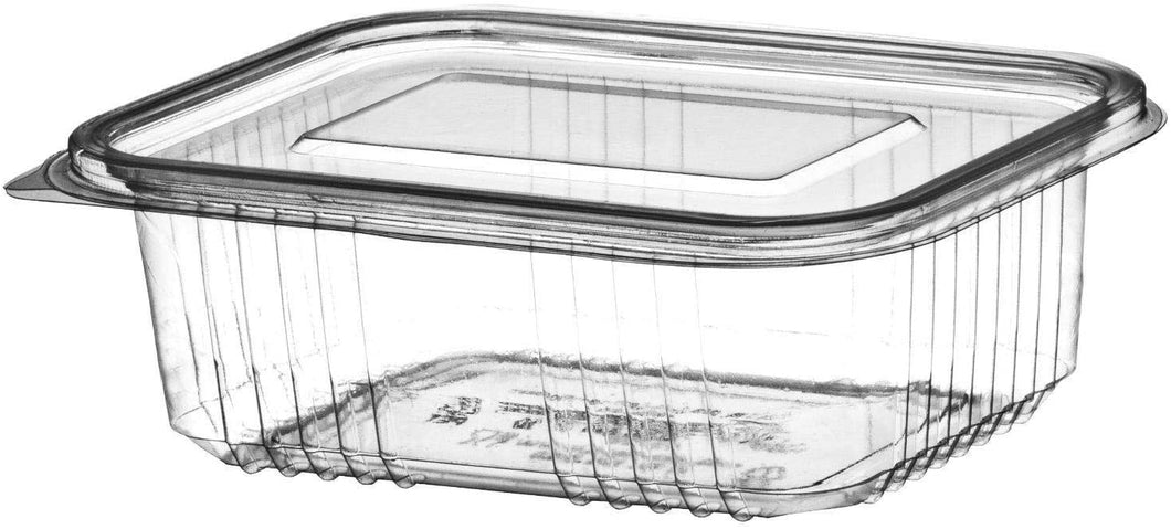 1000cc Plastic Hinged Salad Containers (Pack of 50pcs)