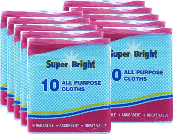 10 x All Purpose Cloths (Pack of 10)