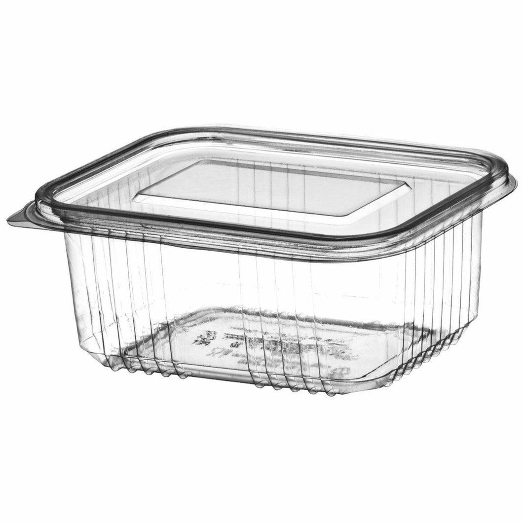 2000cc Plastic Hinged Salad Containers (Pack of 50pcs)