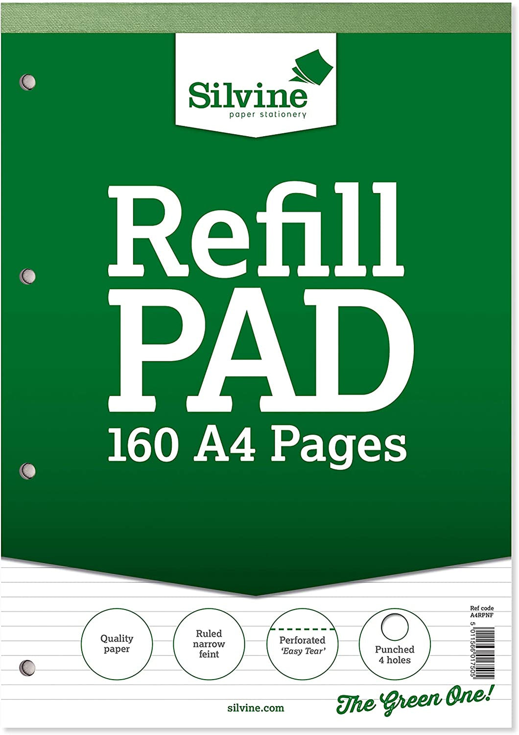 A4 Refill Pad 160 Pages Ruled Narrow Feint A4RPNF