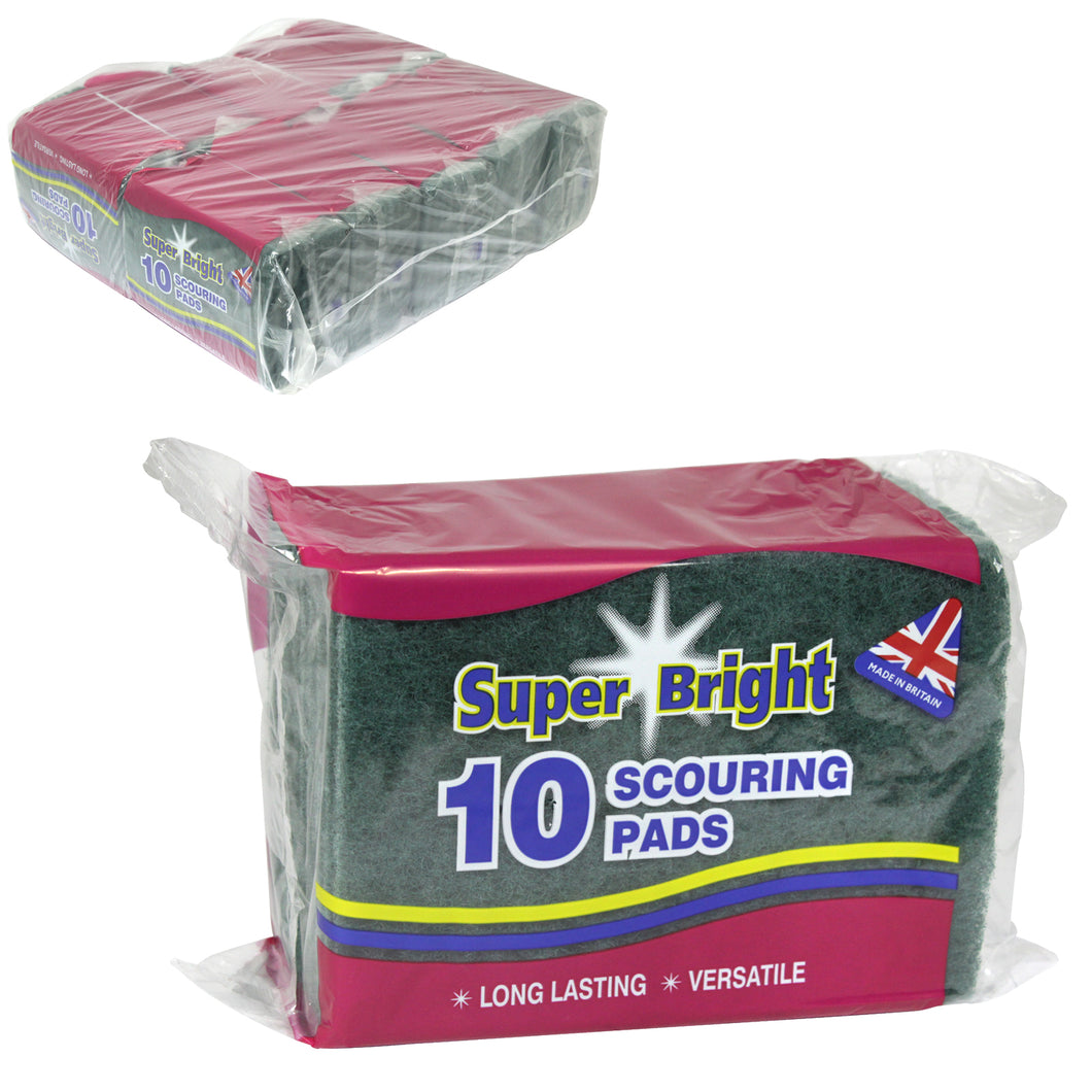 10 x Scouring Pads (Pack of 10)