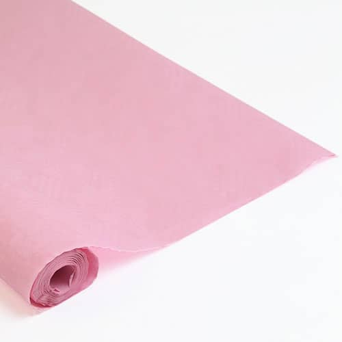 8mtrs Baby Pink Disposable Paper Banqueting Roll
