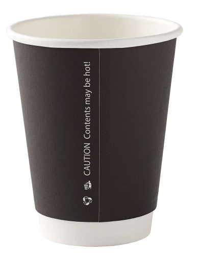 8oz Double Wall Black Cups (Pack of 25)
