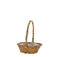 "Load image into Gallery viewer, 8"" Golden Punt Basket with Handle"