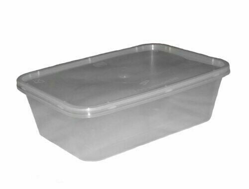 650ml Heavy Duty Plastic Containers (Pack of 50pcs)