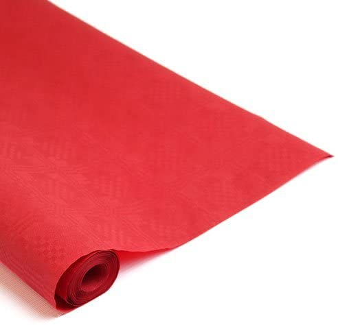 25mtrs Red Disposable Paper Banqueting Roll