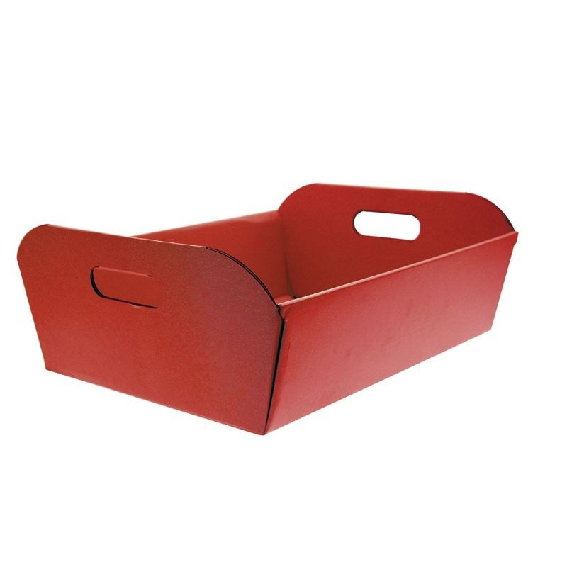 Large Red Hamper Box 44cm x 36.5cm x 16cm